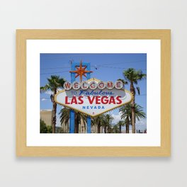 Las Vegas Welcome Sign Framed Art Print