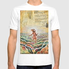 Heavenly Places White Mens Fitted Tee MEDIUM
