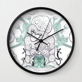 Tiki Moko Wall Clock