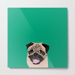 Hank the pug Metal Print