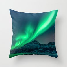 Aurora Borealis (Northern Lights) Throw Pillow
