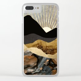 Copper and Gold Mountains Clear iPhone Case