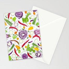 Vegetables pattern (5) Stationery Cards