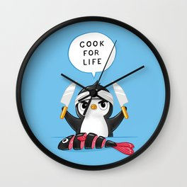 Penguin Chef Wall Clock