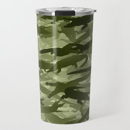 Crocodile camouflage Travel Mug