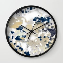 Nigel - Abstract art painting brushstrokes free spirt dorm college masculine feminine art print cali Wall Clock