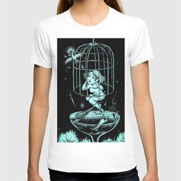Girl Cover Her Ears in the Birdcage T-shirt