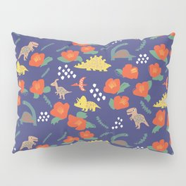 Dinosaurs in camellia garden Pillow Sham