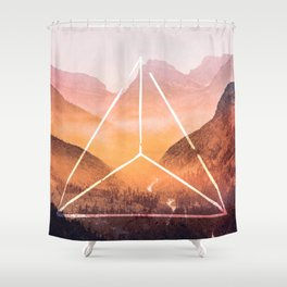 The Elements Geometric Nature Element of Fire Shower Curtain