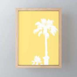 Palm Silhouettes On Yellow Framed Mini Art Print