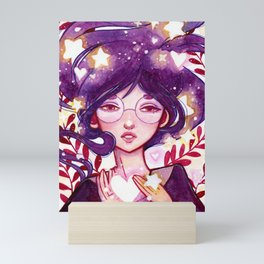 Stars in her Heart Mini Art Print