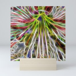 abstract glowing amaryllis hippeastrum Mini Art Print