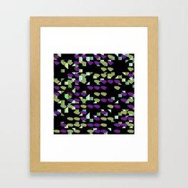 Magenta Lime Floaters Framed Art Print