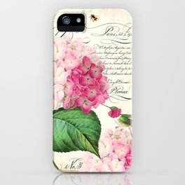 Hummingbird with hydrangea iPhone Case