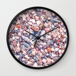 Sand and stones on the beach Wall Clock