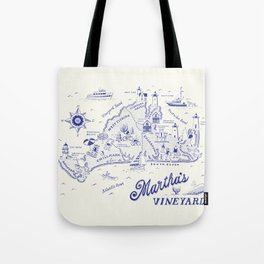 Martha's Vineyard Map Tote Bag