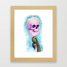 Cotton Candy Cthulhu Framed Art Print
