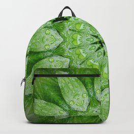 Green Mandala Plant Backpack