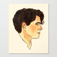 ezra koenig Canvas Prints featuring Ezra Koenig / Vampire Weekend by Kat Schneider