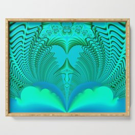 Fractal Abstract 74 Serving Tray