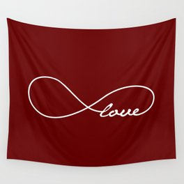 Red Love Infinity Wall Tapestry