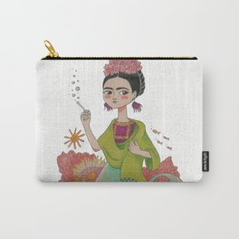 Mermaid Frida Carry-All Pouch