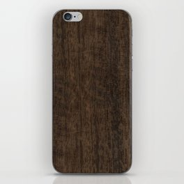 Smoked Etimoe Wood iPhone Skin