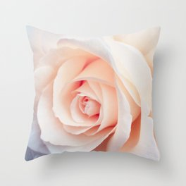 Rose | Flowers Photography | Spring | Blush Pink | Love Throw Pillow