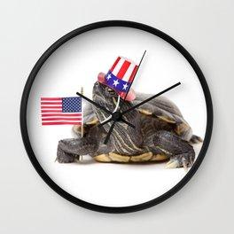 Patriotic Turtle Wall Clock