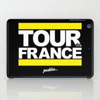 tour de france iPad Cases featuring Tour de France by Pedlin