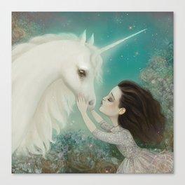 Unicorn Kiss Canvas Print
