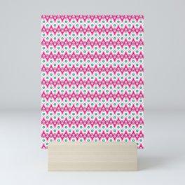 Bright summer geo tulip drop stripe seamless vector pattern. Mini Art Print
