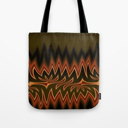 Fractal Tribal Art in Autumn Tote Bag
