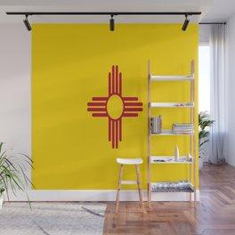 flag new mexico-usa,america,sun,Zia Sun symbol,New Mexican,Albuquerque,Las Cruces,santa fe,roswell Wall Mural