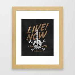 Switchblade Skull Framed Art Print