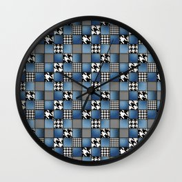 Mixed Denim Patchwork Wall Clock