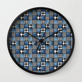 Mixed Denim Patchwork Wall Clock