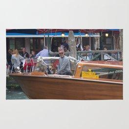 Macho Cigarette Smoking Boatman in Venice Rug