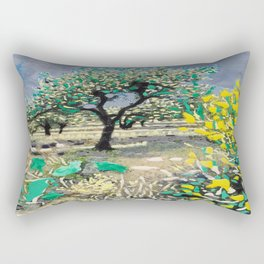 Olive Tree & Gorse Bush Rectangular Pillow