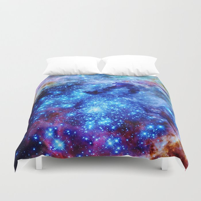 galaxy blue sparkle Duvet Cover