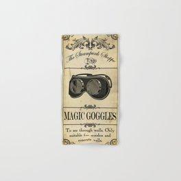 Steampunk Apothecary Shoppe - Goggles Hand & Bath Towel