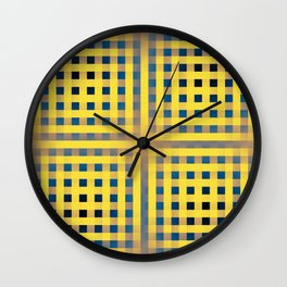 Snorkel Blue Buttercup Iced Coffee Pattern 1 Wall Clock