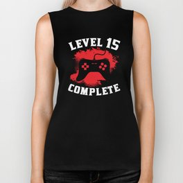 Level 15 Complete 15th Birthday Biker Tank