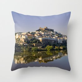 Dusk at Mertola, Portugal Throw Pillow