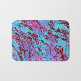 Paint Splatter Print Bath Mat