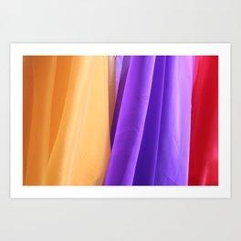 Bright colored Fabric  Art Print
