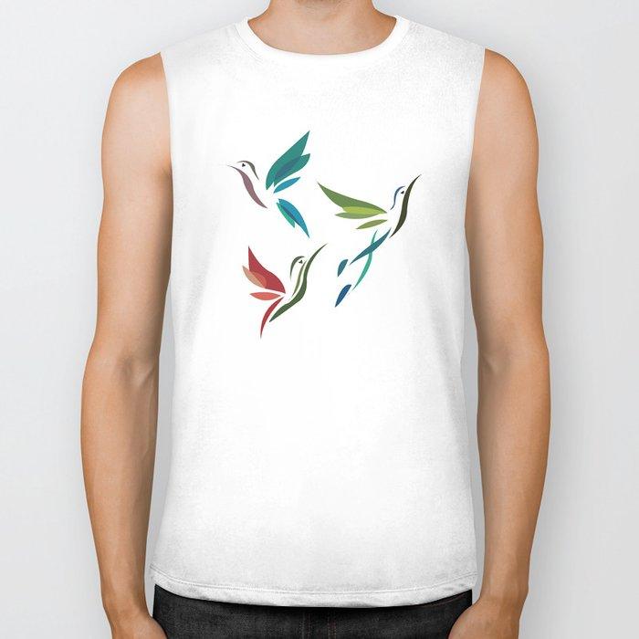 Hummingbirds Biker Tank