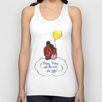 friday Tank Tops featuring FRIDAY by RM2 Designs