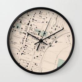 Vintage Map of Culpeper Virginia (1878) Wall Clock