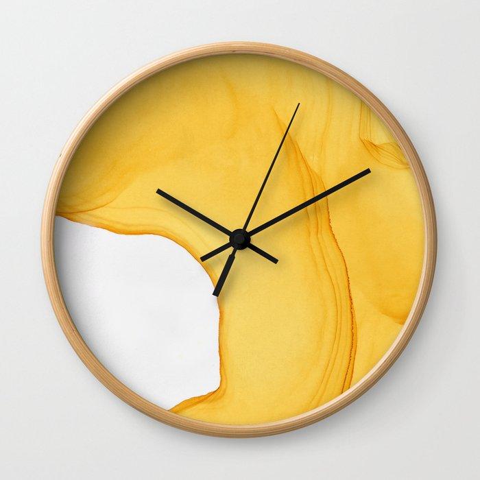 Yellow Ink Wall Clock